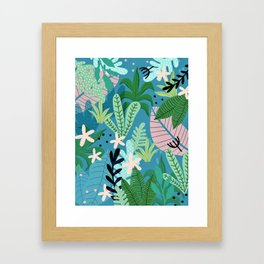 Into the jungle - twilight Framed Art Print