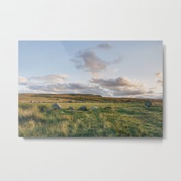 Cockpit Stone Circle at sunset. Cumbria, UK. Metal Print