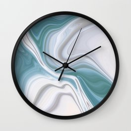 Liquid Blues Wall Clock