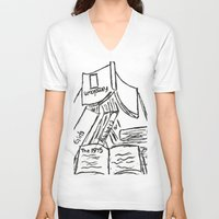 1975 V-neck T-shirts featuring The 1975 by Jubilee