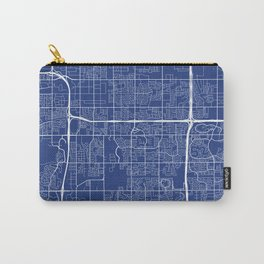 Tempe Map, USA - Blue Carry-All Pouch