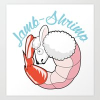 Lamb-Shrimp Art Print