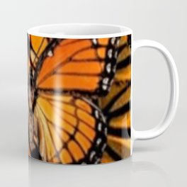 ORANGE MONARCH BUTTERFLY PATTERNED ARTWORK Coffee Mug