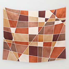Cubist Autumn Wall Tapestry