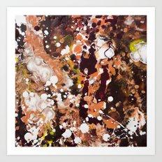 Tabby Cat Orange & Dark Chocolate Brown [Kate Jones] Art Print