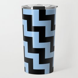Black and Baby Blue Steps LTR Travel Mug