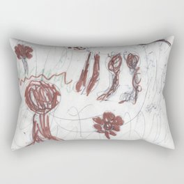 Cat in a Meadow by Ajax Bell. age 6 Rectangular Pillow