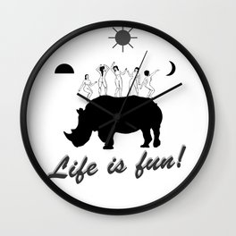 Dances on Rhino Wall Clock