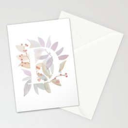 Floral Initial D - Rustic Watercolor Letter - Typography - Wreath Design Stationery Cards