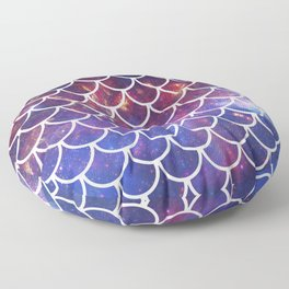 Galaxy Fish Scales Pattern Floor Pillow