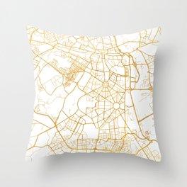 NEW DELHI INDIA CITY STREET MAP ART Throw Pillow