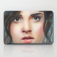 emma watson iPad Cases featuring Emma Watson by taryndraws2