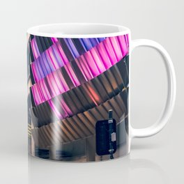 Iconic city street view intersection at sunset time Coffee Mug