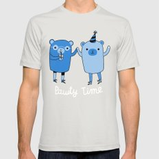 Pawty Time Silver SMALL Mens Fitted Tee