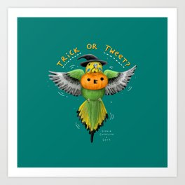Trick or Tweet? Art Print