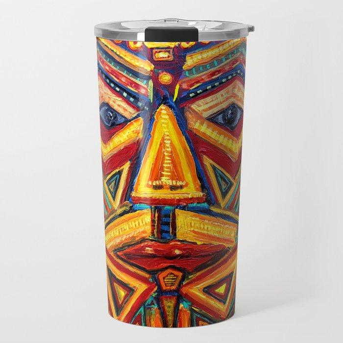 Warrior mask Travel Mug