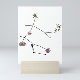 Gemini Zodiac Constellation Mini Art Print