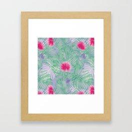 Calliandra Palms in Violet Framed Art Print