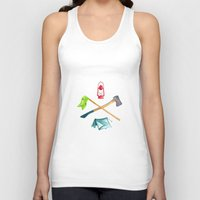 camping Tank Tops featuring Camping by Whimsy Milieu