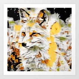 Fox Palette Knife Art Print