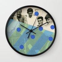boys Wall Clocks featuring Boys by Naomi Vona
