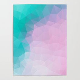"""""""Turquoise pink mood"""" Poster"""
