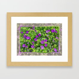 "TRUE SPECIE HARDY GERANIUM ""TINY MONSTER"" Framed Art Print"