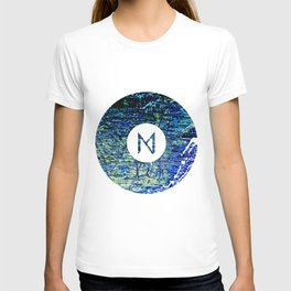 Vinyl abstract T-shirt