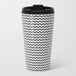 Chevron Grey Travel Mug