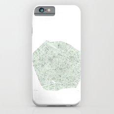 Milan Italy watercolor map iPhone 6s Slim Case