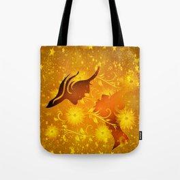 Golden In Love Tote Bag