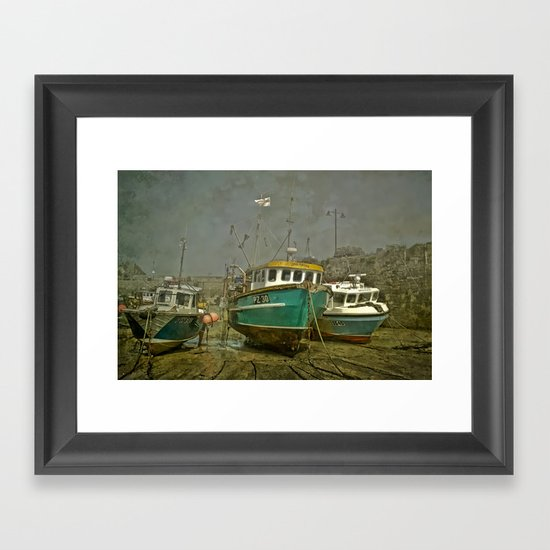 Waiting for the tide Framed Art Print