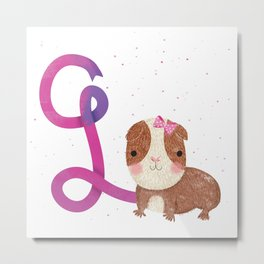 G is for Guinea pig Metal Print