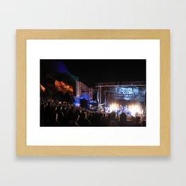 Red Rocks Amphitheater  Framed Art Print