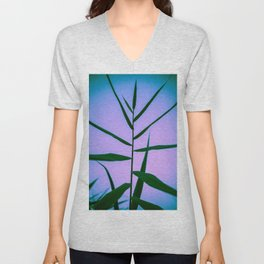 Reach to the Sky at Sunset 4 Unisex V-Neck
