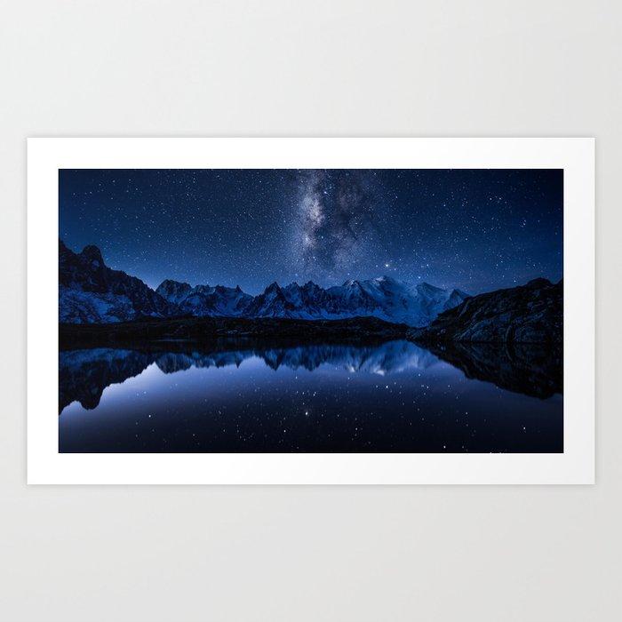 Night mountains Kunstdrucke