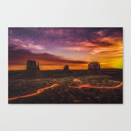 Moonrise at Monument Valley (USA) Canvas Print