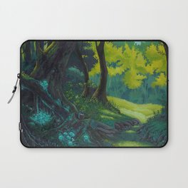 Magic forest glade art bright colors Laptop Sleeve