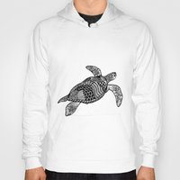 turtle Hoodies featuring Turtle by Sophie H.
