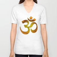 ohm V-neck T-shirts featuring Ohm by MariquesArt