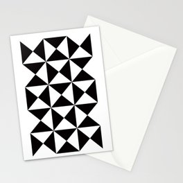 Geometric Pattern #45 (black white triangles) Stationery Cards