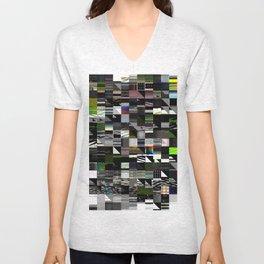 Abstract digitalism pt. I Unisex V-Neck