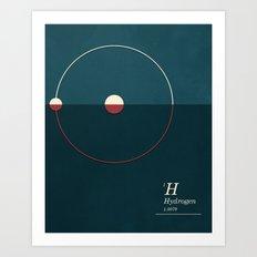 Hydrogen Art Print
