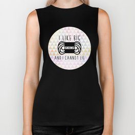 i like big skeins and i cannot lie funny yarn knit crochet Biker Tank
