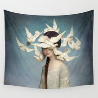 christian Wall Tapestries featuring The Beginning by Christian Schloe