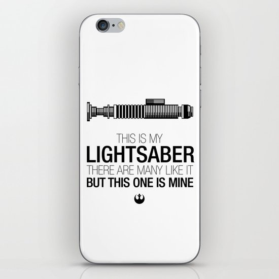 This is my Lightsaber (Luke Version) iPhone & iPod Skin