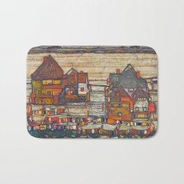 Egon Schiele - Houses with laundry (Suburb II) 1914 Bath Mat
