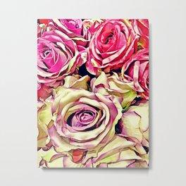Cream roses Metal Print
