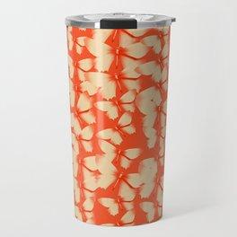 Butterflies Orange Travel Mug