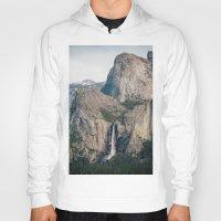 yosemite Hoodies featuring Yosemite Waterfall by Laura Ruth